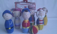 Adorable My 1st Set of 'Noddy Skittles' Toytown Plush Toy